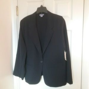 NWT Navy 3X One Button Jacket Final Price